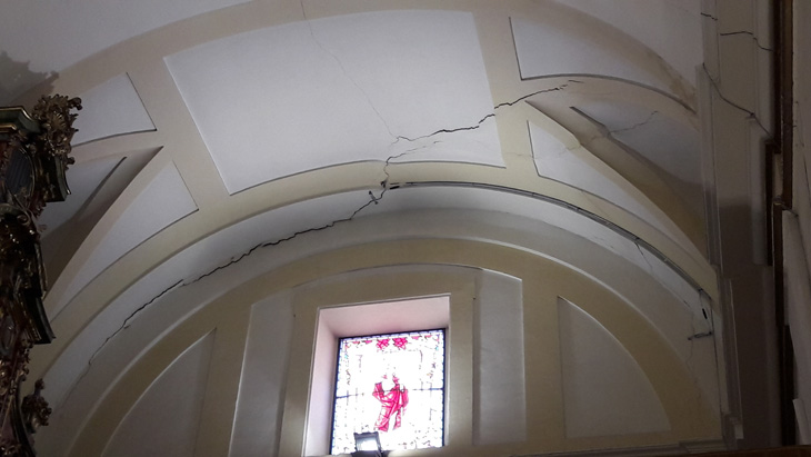 Resultado de imagen de Iglesia San salvador leganes grietas