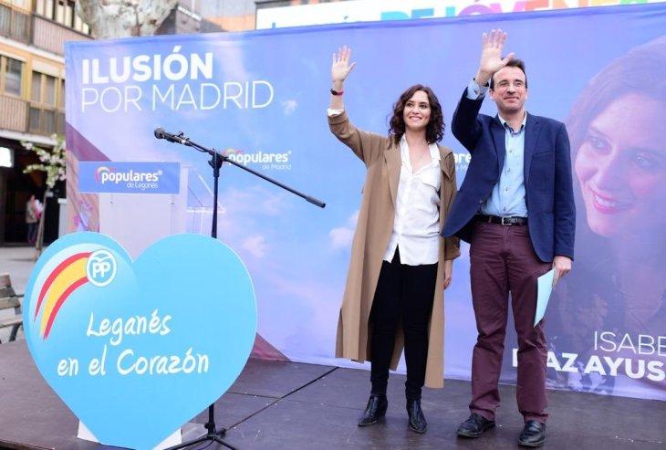 Ayuso y Recuenco apostaron en Leganés por la victoria del PP en la ...